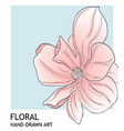 minimalist peony botanical valentine greeting vector image