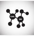 molecular formula on white background vector image vector image