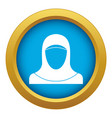 muslim women wearing hijab icon blue vector image