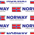 norway travel destination seamless pattern vector image vector image