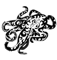 octopus for coloring or tattoo vector image vector image