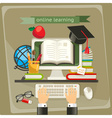 Online learning vector image vector image