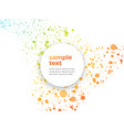 orange green dotted background with sample text vector image vector image