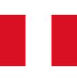 Peru flag vector image
