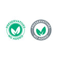 preservatives no added green leaf icon vector image vector image