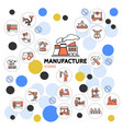 production linear icons collection vector image vector image