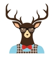 reindeer hipster style icon vector image