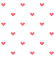 Romance seamless pattern with stylized hearts vector image vector image