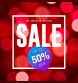sale banner design red blurred background vector image vector image