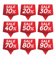 Sale percent sticker price tag vector image vector image
