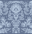 seamless blue lace vector image vector image