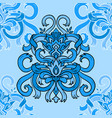 seamless blue ribbon pattern vector image