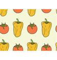 seamless pattern vegan food - tomato bell pepper vector image vector image