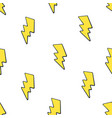seamless pattern yellow electric lightning bolts vector image