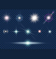set light effect and star vector image