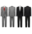 Set of black and grey suits