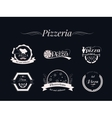 set pizza logos badges and labels pizzeria vector image vector image