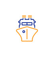 ship line icon watercraft transport sign vector image