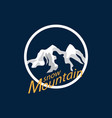 snow mountain logo vector image