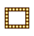 square frame with lamps place for text or photo vector image vector image
