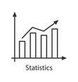 statistics linear icon vector image vector image