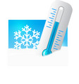 Thermometer in the snow vector | Price: 1 Credit (USD $1)