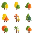 tree set on flat design style vector image vector image