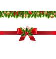 vintage christmas border vector image vector image