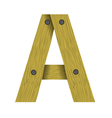 wood letter A vector image vector image