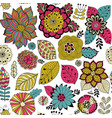 flower pattern colorful seamless botanic vector image