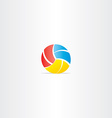 volleyball logo icon vector image
