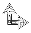 computer circuit arrow electronic component linear vector image