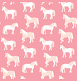 seamless pattern of beautiful horses in pastel vector image