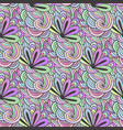 doodle colorful pattern with flowers in vector image