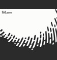 abstract black stripe line tech wavy on white vector image vector image
