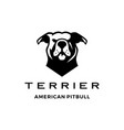 american pit bull pitbull terrier logo icon vector image