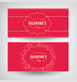 amourous festive horizontal banners vector image vector image