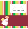 Angel with a letter vector image