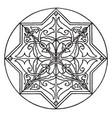 arabic koran star-shape panel is a 17th century vector image vector image