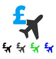 aviation pound business flat icon vector image