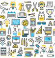 back to school background icon set vector image
