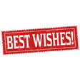 best wishes sign or stamp vector image vector image