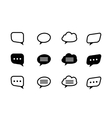 black and line speech bubble vector image