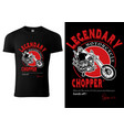 black t-shirt design with motorcyclist vector image vector image
