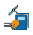book and microscope design vector image vector image