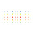 carrot spectral halftone pattern vector image