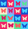 cheerful pattern colorful butterfly Summer patter vector image