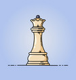 chess queen flat icon vector image vector image
