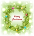 Christmas Wreath with Colorful Balls vector image vector image