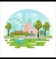 city public park concept vector image